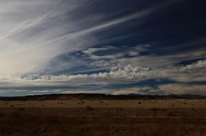 high desert sky, NM