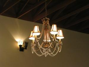 chandeliers!