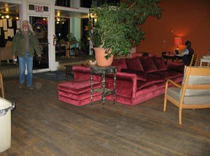 Velvet couches at the Javalina!